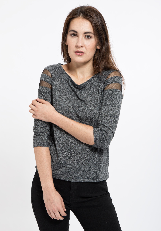MEXX Shirt 3/4 Arm mit Raglan und Mesh-Einsatz | DeineTrends - Die Neuesten  Modetrends Online Kaufen