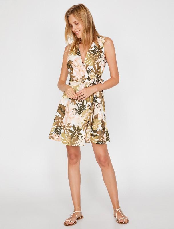 KOTON Wickelkleid mit floralem Muster