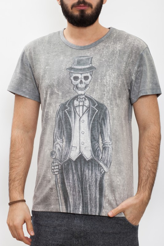 WAY OF GLORY T-Shirt mit Mr. Skull Print