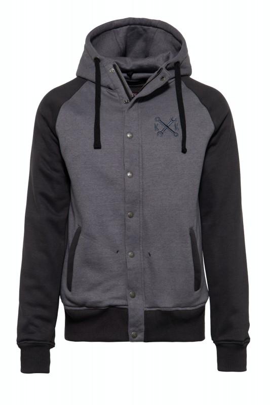 KING KEROSIN Raglan Funktions-Hoodie-Jacket im College-Style Motor Service