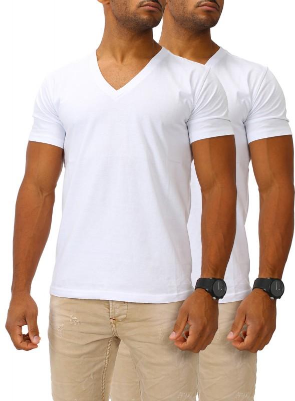 Herren Basic T-Shirt V-Neck 2er Set