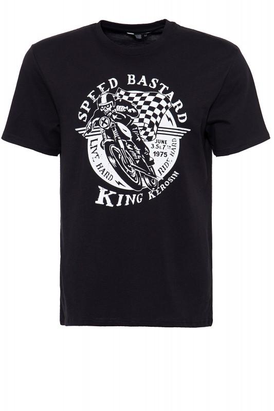 King Kerosin Shirt mit Front Print Speed Bastard