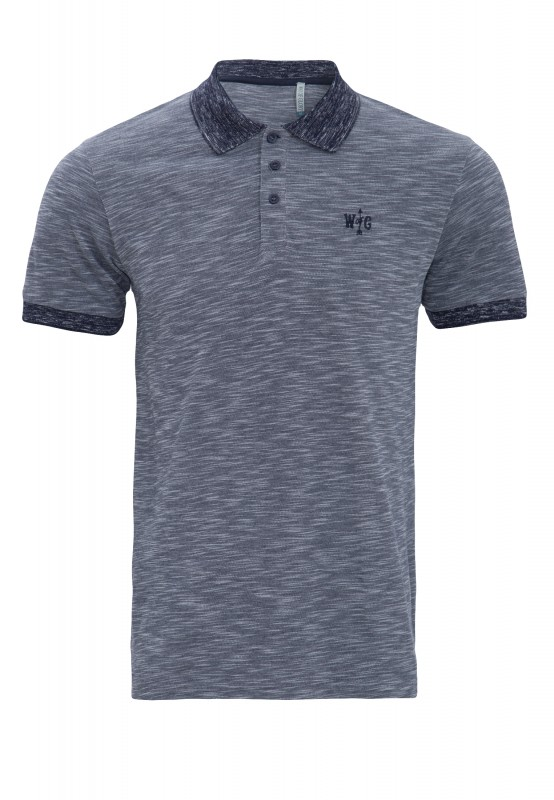 Way of Glory Poloshirt meliert - dunkelblau (navy)