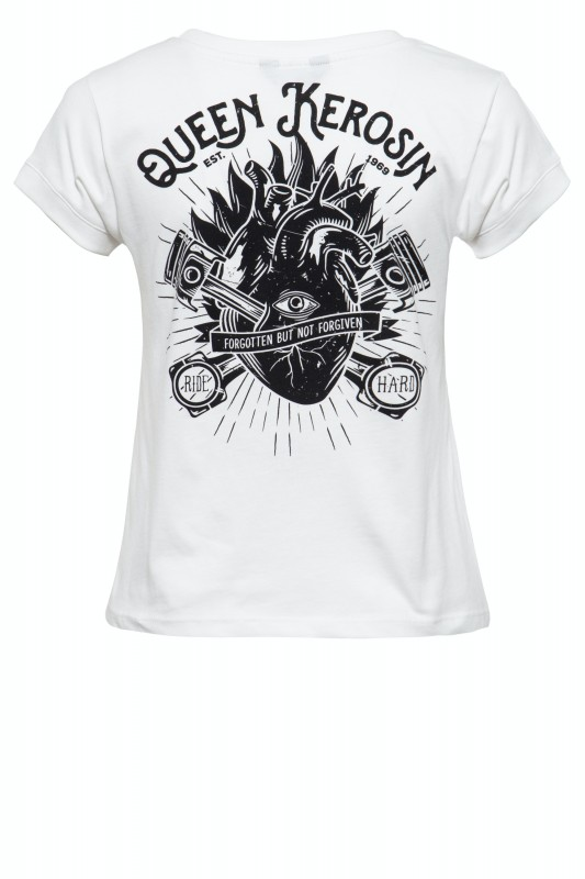 Damen Printshirt mit coolem Backprint »QK Heart«