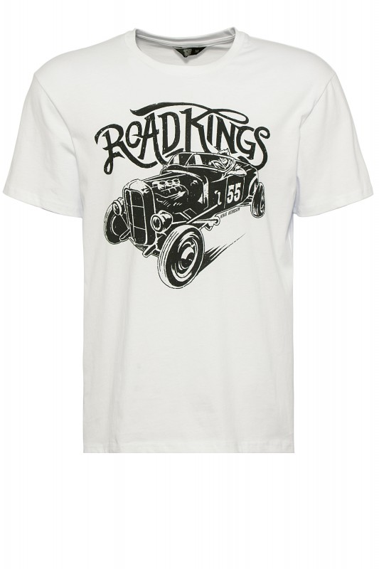 KIng Kerosin Shirt mit Retro-Druck Road Kings