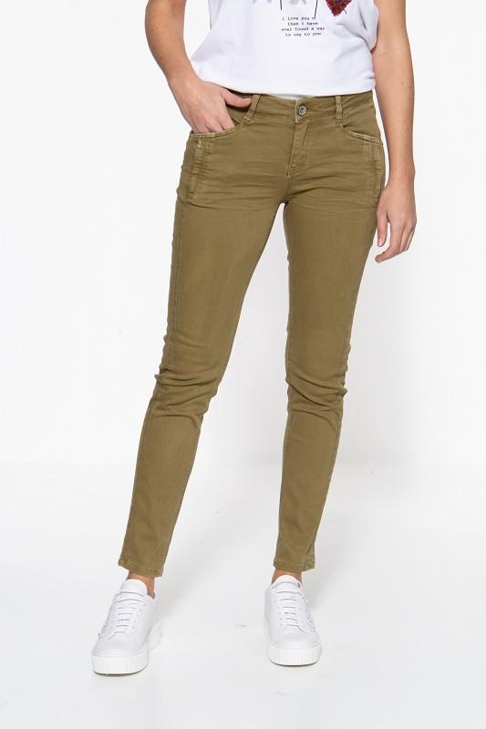 ATT JEANS Slim Fit Jeans mit modischen Reißverschlusstaschen Nora