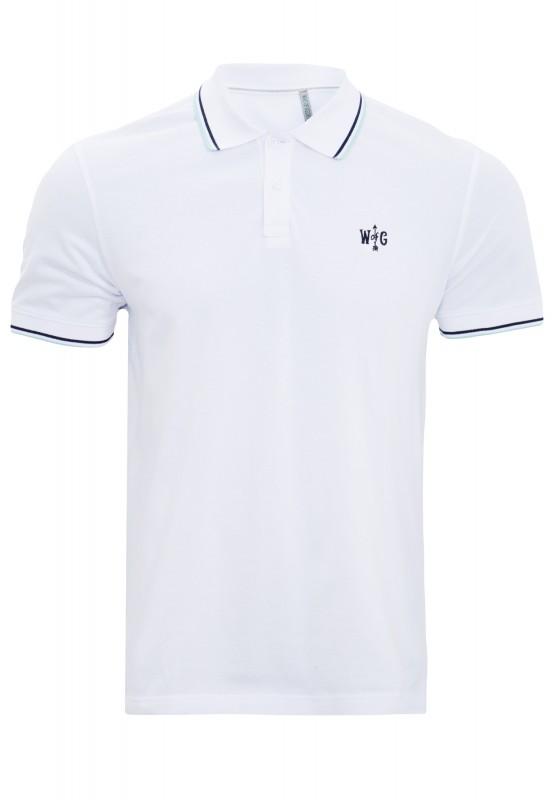 WAY OF GLORY Basic Poloshirt mit farblichen Akzenten