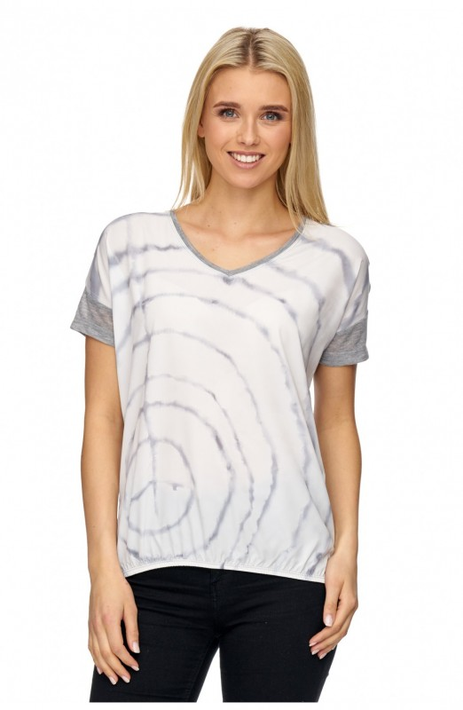 DECAY T-Shirt mit Aquarell Druck