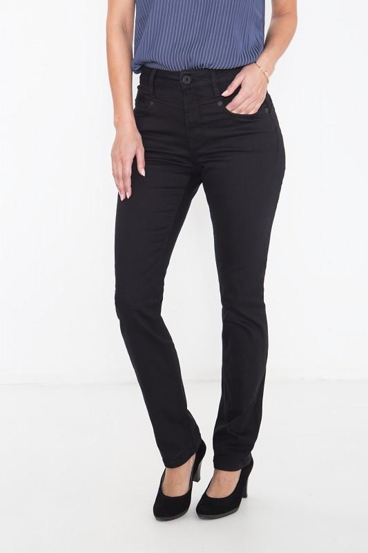 ATT JEANS Basic High Waist Jeans mit Straight Leg Lea