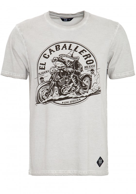 KING KEROSIN T-Shirt in Oil-Washed Optik EL Caballero