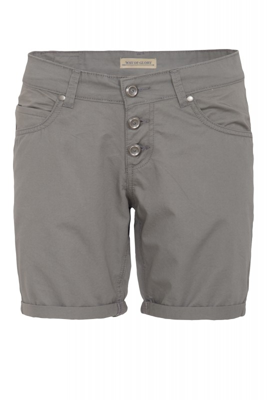 WAY OF GLORY Basic Bermuda-Shorts - grau