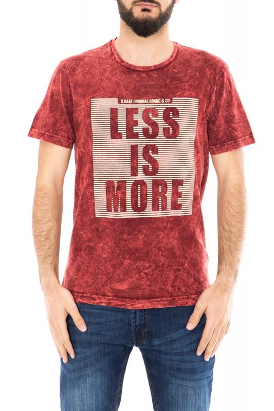Daniel Daaf Shirt mit Vintage Waschung und 3D Print - bordeaux