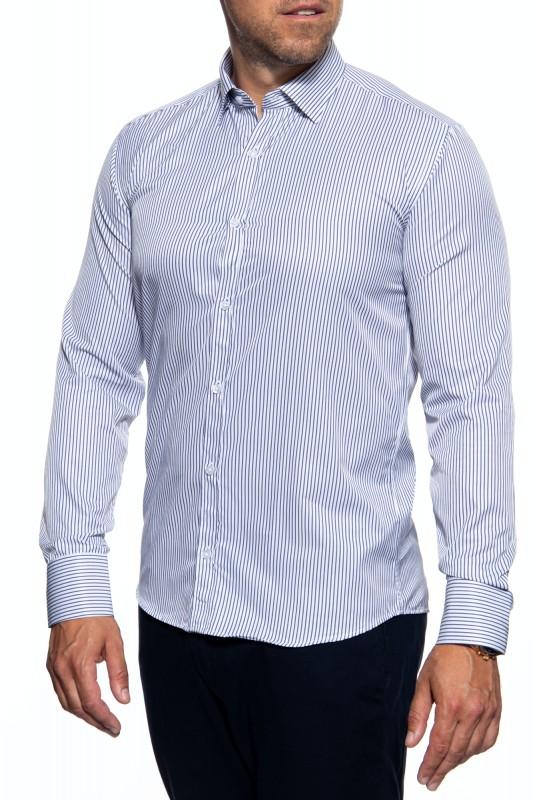 DUST Chices Herren Hemd mit vertikalem Streifenmuster