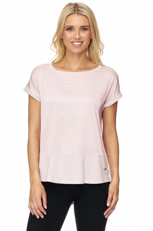 DECAY T-Shirt im Materialmix mit überschnittenen Schultern
