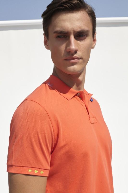 PORT ROYALE Poloshirt mit Stickerei in Kontrastfarben