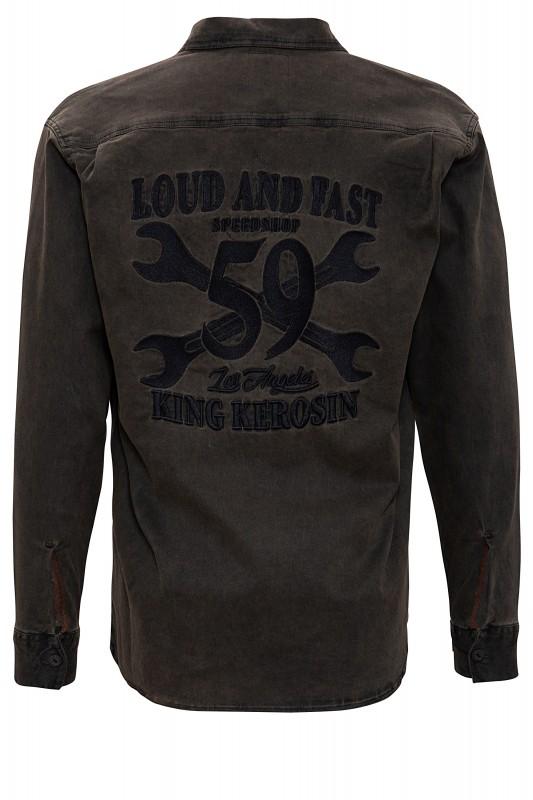KING KEROSIN Hemd im Workwear-Stil Loud and Fast