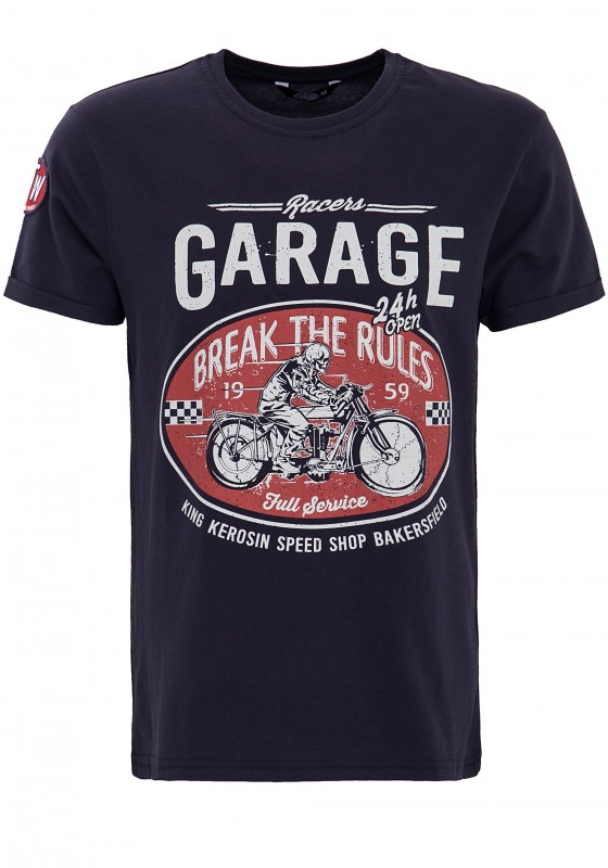 "KING KEROSIN T-Shirt mit Front Print ""Garage"""