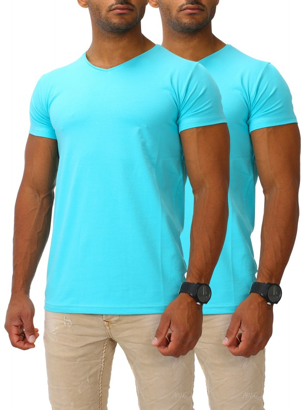 Herren Basic T-Shirts V-Neck HIGH 2er Set