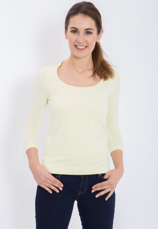 Basic T-Shirt mit Rundhals und 3/4 Arm