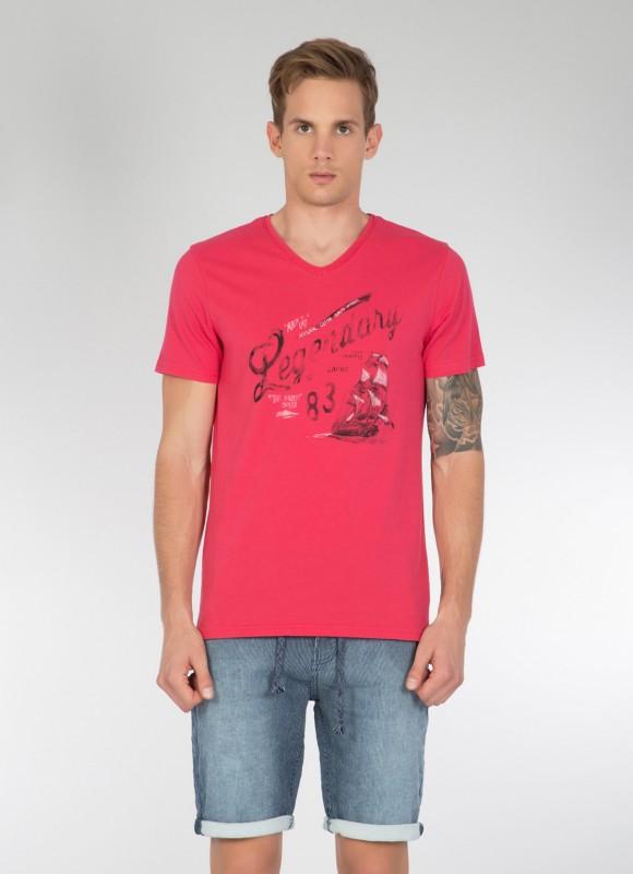 COLINS T-Shirt mit V-Ausschnitt und Print