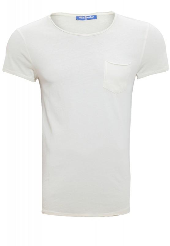 Basic T-Shirt oil washed 3003 - naturweiß - Regular Fit