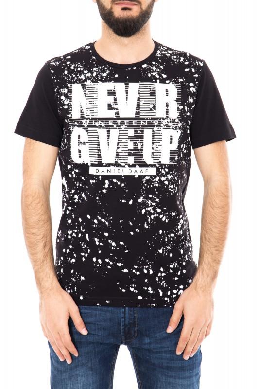 Watercolor T-Shirt mit Frontprint
