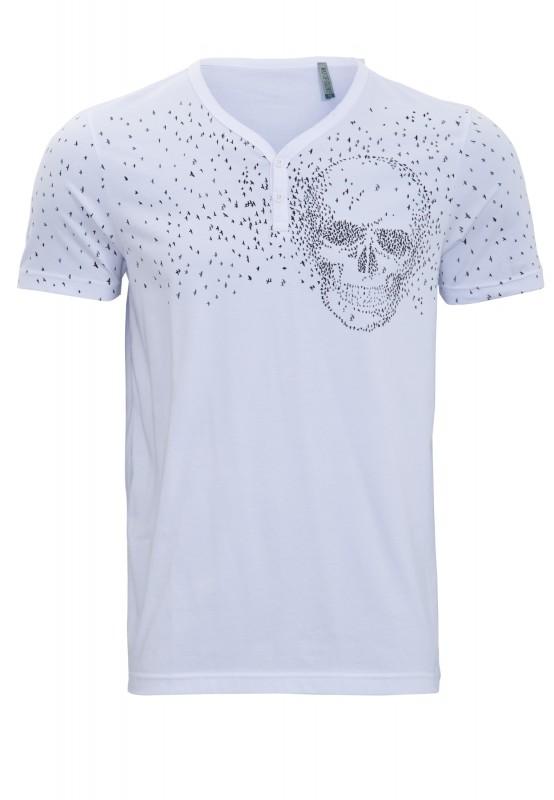 WAY OF GLORY T-Shirt mit Skull Musterung
