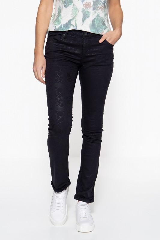 ATT JEANS Slim Fit Jeans »Belinda« mit Glanzaufdruck Belinda