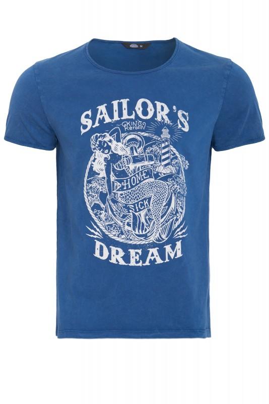 KING KEROSIN T-Shirt im Used-Look mit Print Sailor's Dream