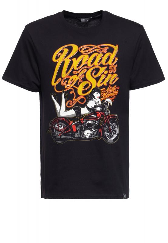 T-Shirt mit Print »Road of Sin«