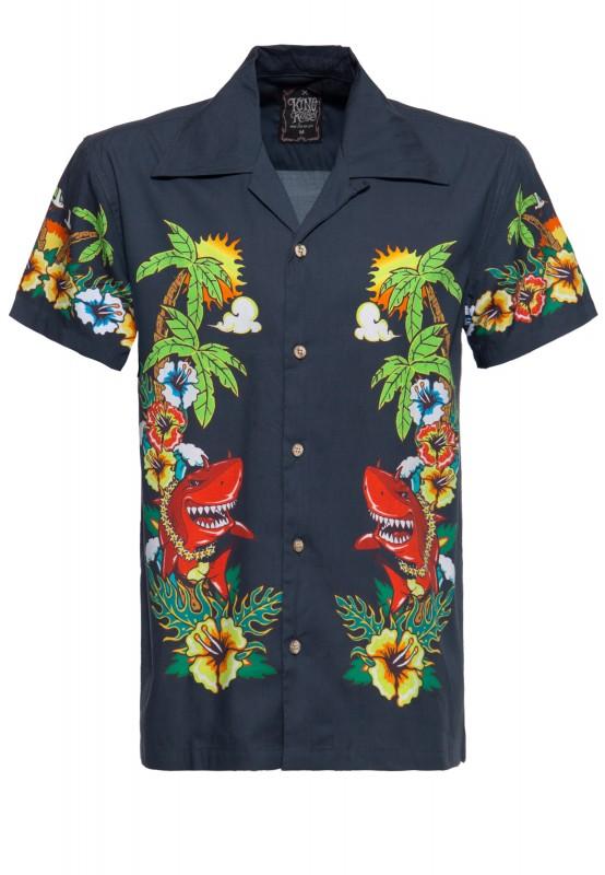 Kurzärmliges Hula Hou Hemd mit tropischem Print »Mermaid«