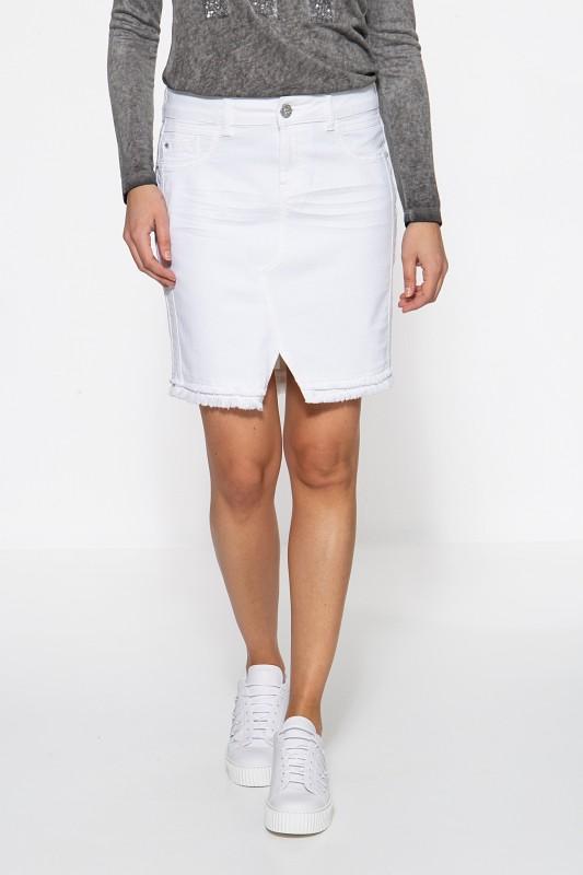 ATT JEANS Damenrock mit markanter Absteppung im Vorderteil Megan