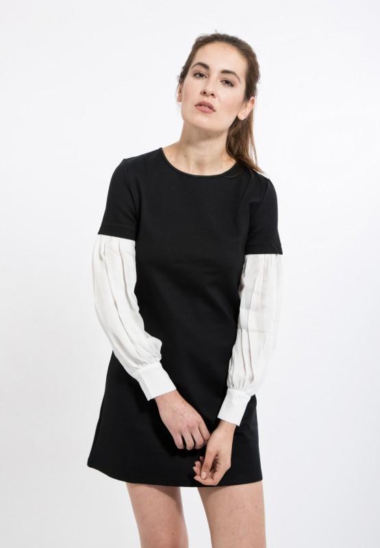 MEXX Scuba-Kleid im 2-in-1 Stil mit Ärmeleinsatz