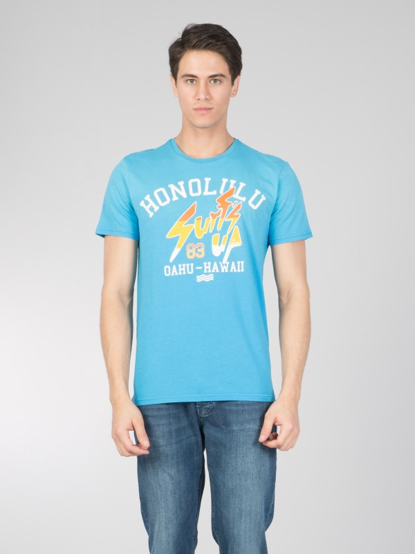 COLINS T-Shirt mit modischem Front Druck