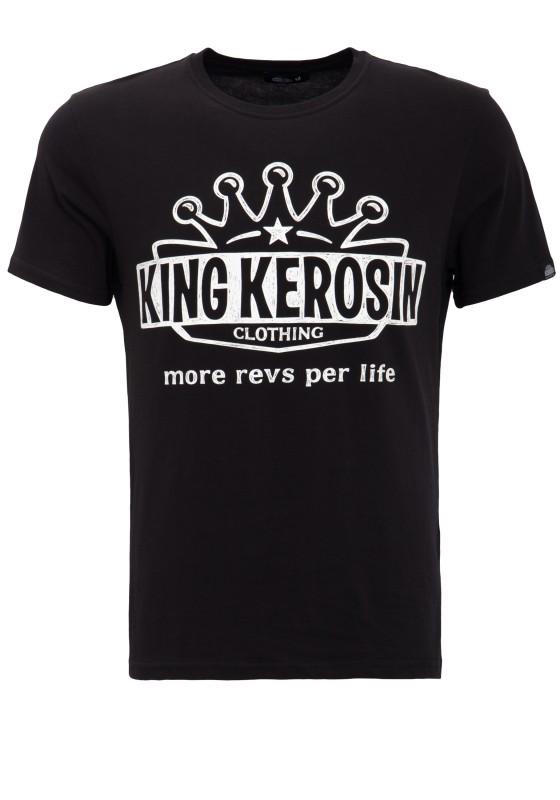 KING KEROSIN Basic T-Shirt mit Logoprint