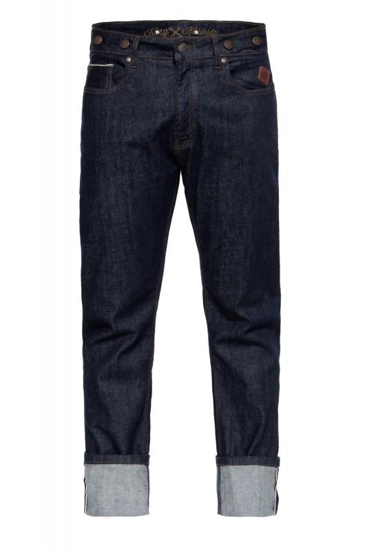 KING KEROSIN Vintage Red Selvedge Jeans mit Cinch Back und Knöpfen »Robin Selvedge«