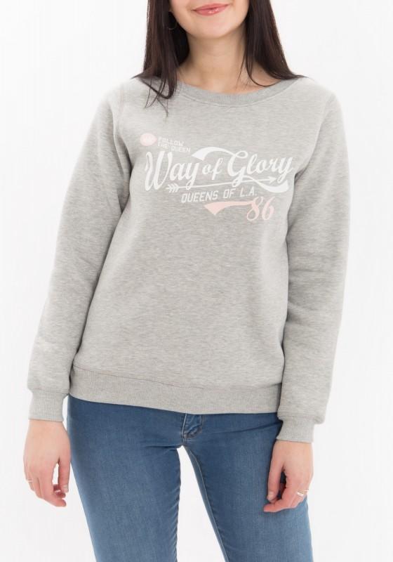 WAY OF GLORY Sweatshirt mit Vintage Druck