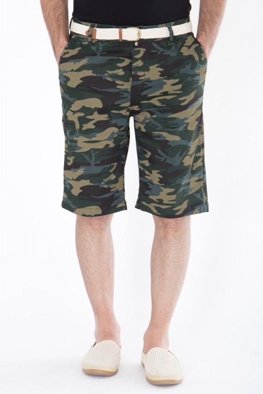 DANIEL DAAF Chino-Shorts mit Tarnmuster - gruen (Green)