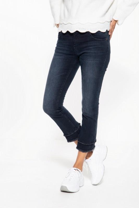 5-Pocket 7/8 Jeans mit Waschungen und offenen Saumkanten »Brenda«