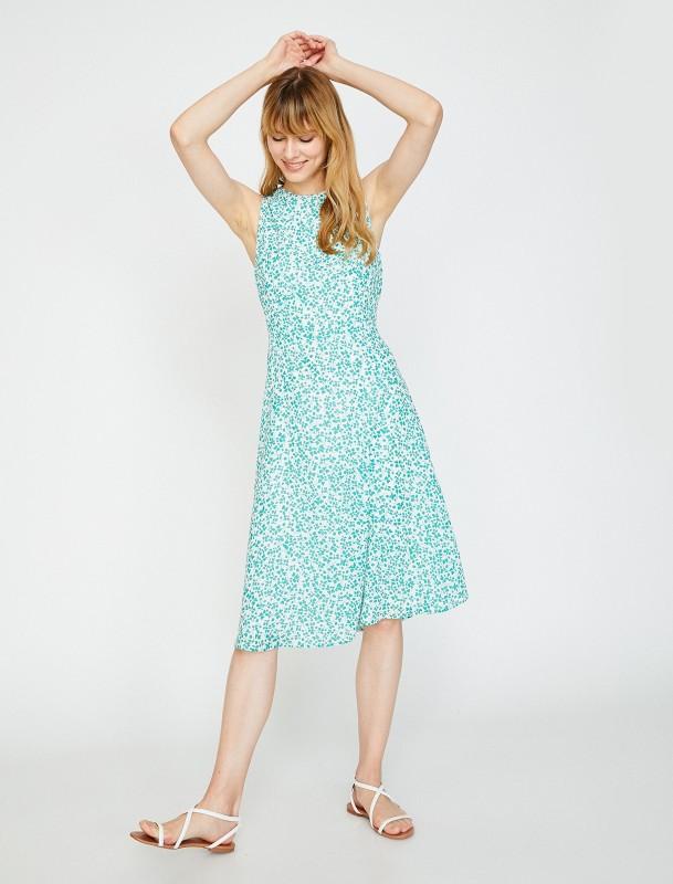 KOTON Sommerkleid mit feinem floralem Muster