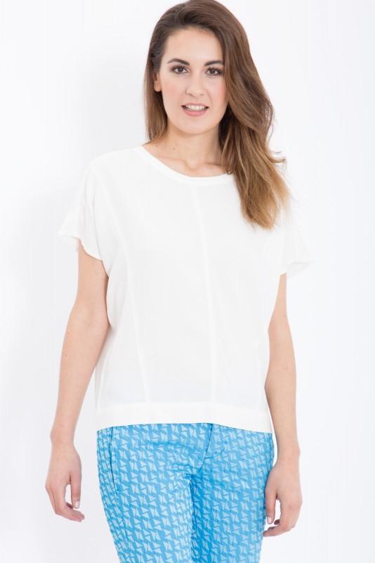 MEXX Oversize Shirt mit kastigem Schnitt und Teilungsnähten