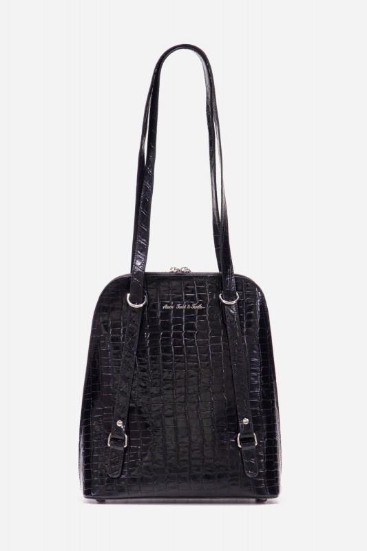 Henkel Tasche mit Krokodilprägung