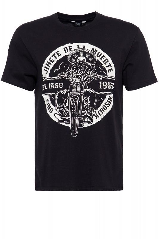 King Kerosin Shirt mit Biker-Print El Paso
