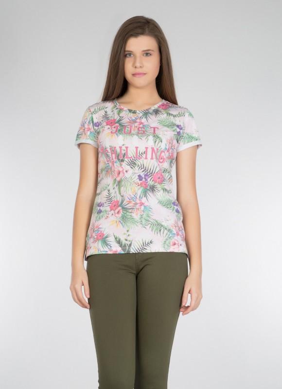 COLINS Shirt mit tropischem Alloverdruck mit tropischem Alloverdruck