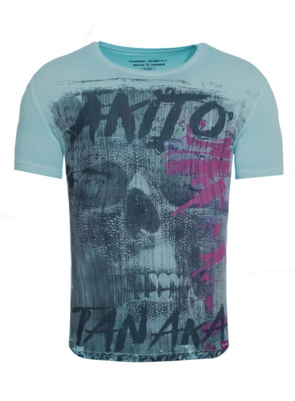 AKITO TANAKA T-Shirt mit Skull Motiv Fight for Skull