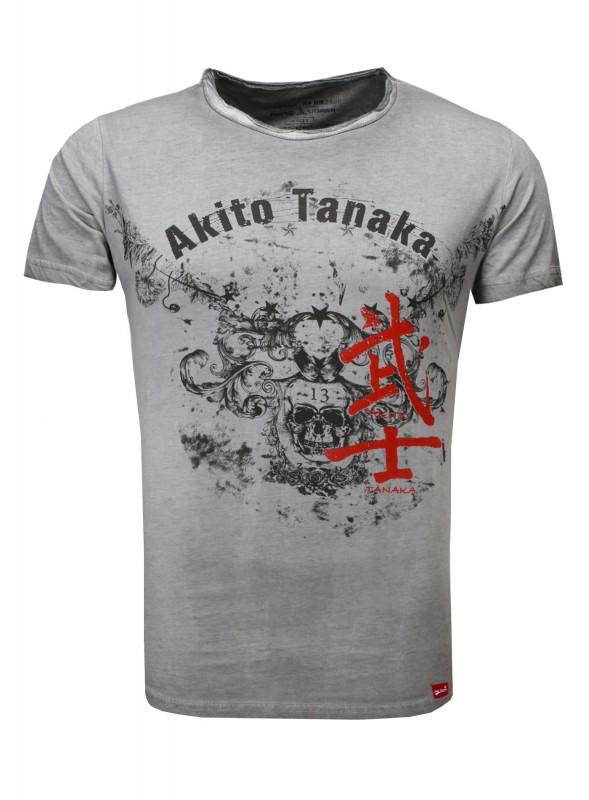 AKITO TANAKA T-Shirt mit stylischem Front Print Skull Eagle