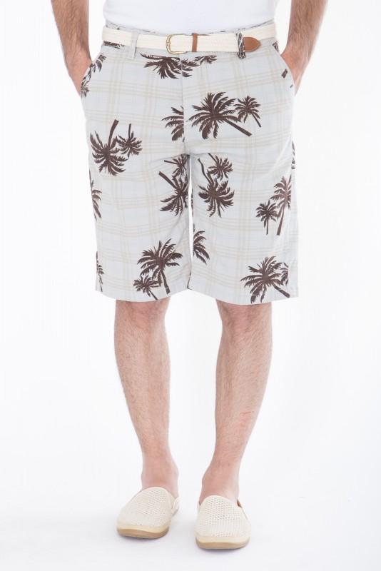 DANIEL DAAF Chino-Shorts mit Print inkl. Flechtgürtel