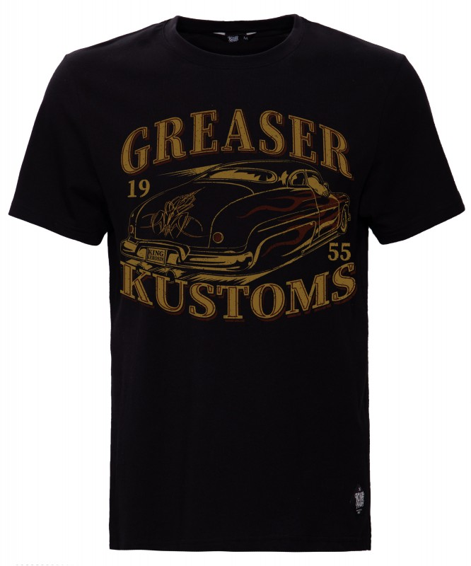 KING KEROSIN Shirt mit Retro Druck Greaser Customs