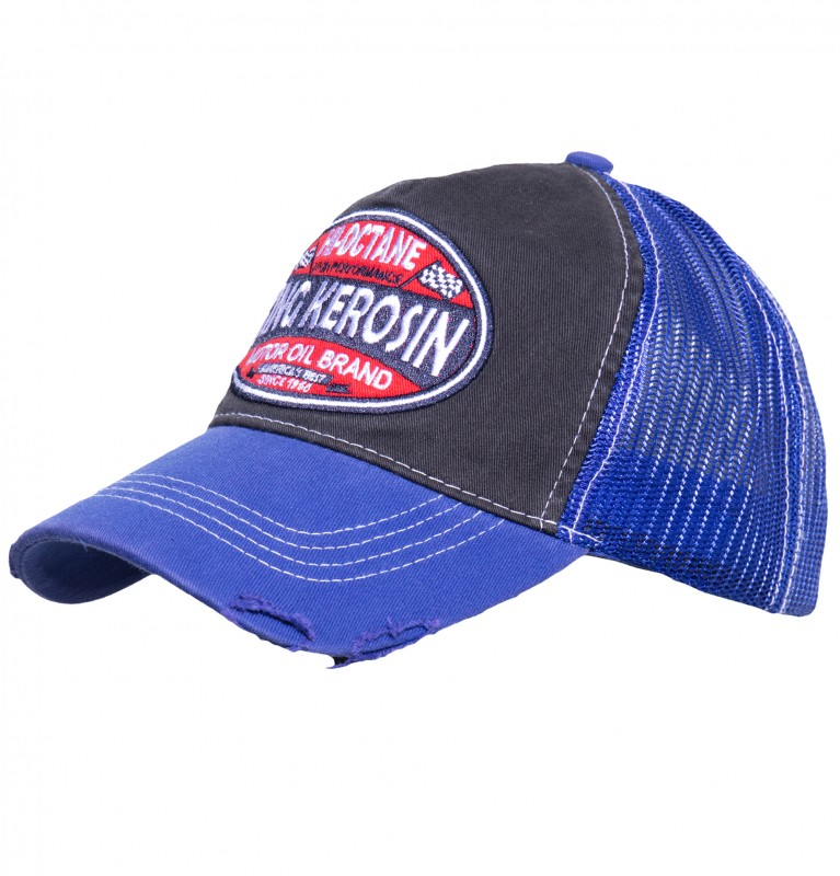 KING KEROSIN Trucker Cap im Used-Look Hi-Octane