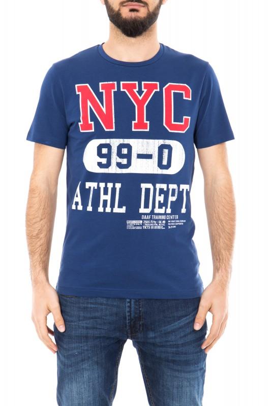 Daniel Daaf Shirt mit Schriftzug - dunkelblau (indigo)